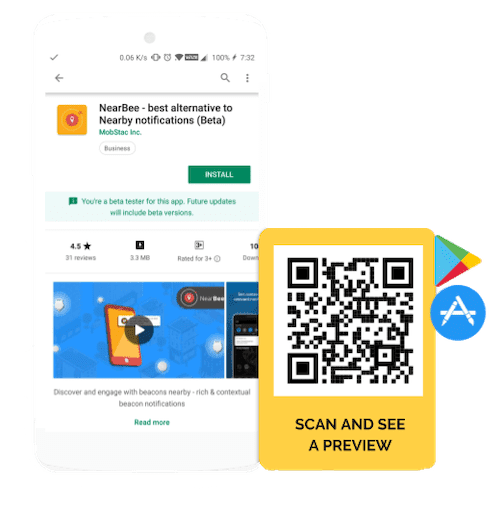 QR Code to download apps