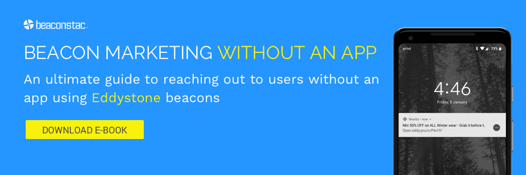 Beacon marketing without an app
