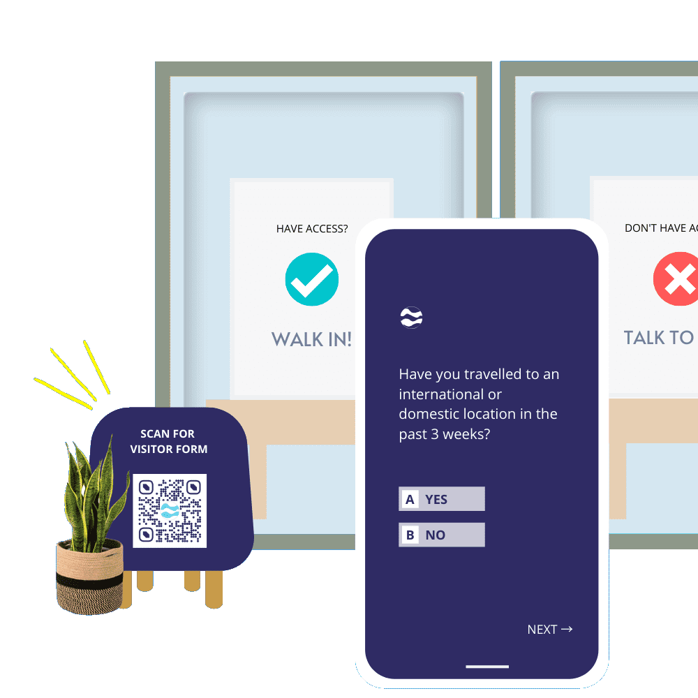 Build contactless visitor forms