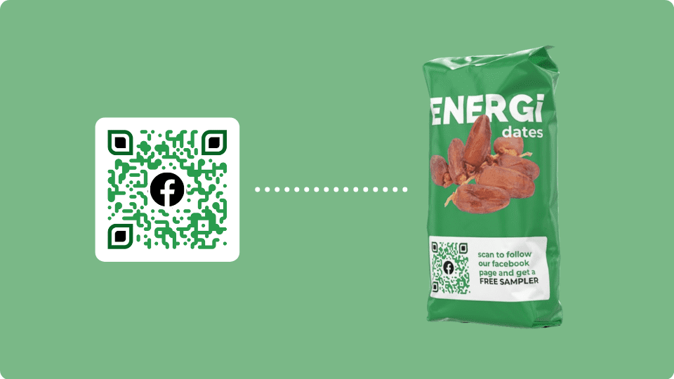 Direct customers to social media pages using QR Code marketing
