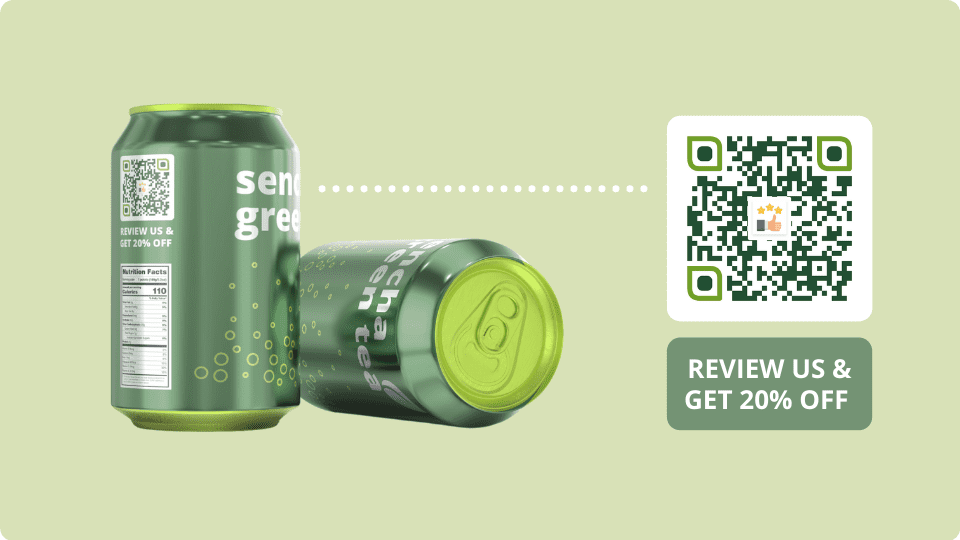 Get customers to leave product reviews by scanning QR Code marketing