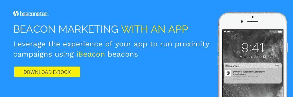 iBeacon proximity marketing with app