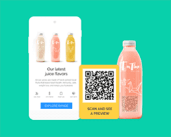 QR Codes product packaging