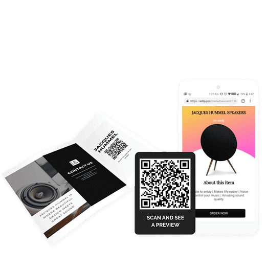 How to create a QR code on brochures