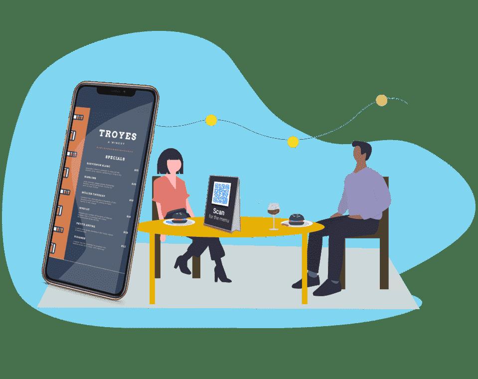 Create QR Code menus