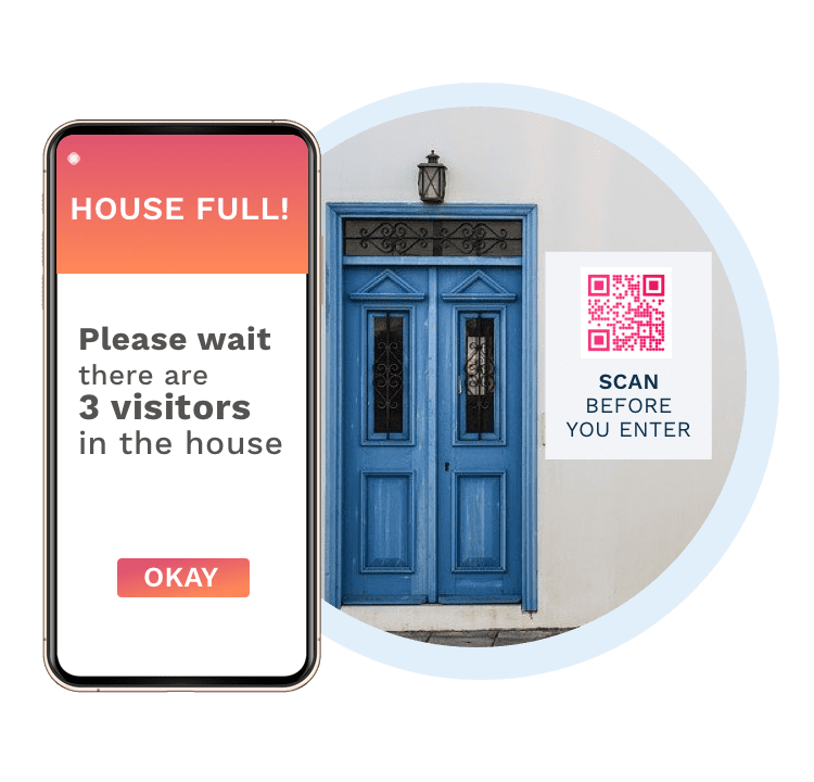 Permit authorization to a property with real estate QR Codes