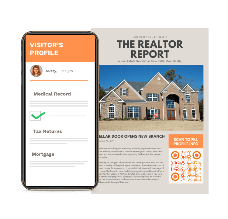 Virtual documentation with real estate QR Codes